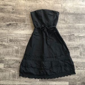Ann Taylor Loft black strapless dress